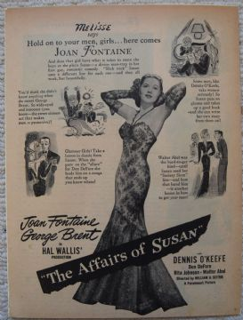Affairs of Susan (1945) - Vintage Trade Ad
